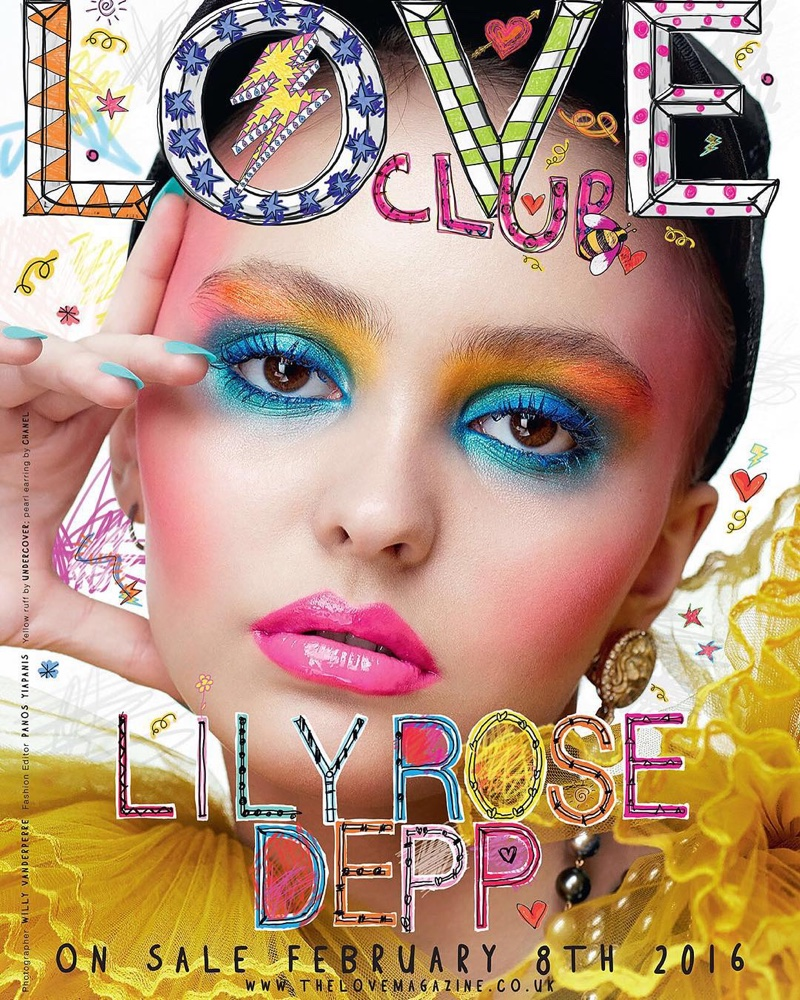 Lily Rose Depp on LOVE Magazine Spring 2016 cover