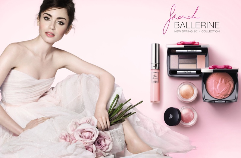 Lily Collins stars in Lancome French Ballerine campaign (2014)