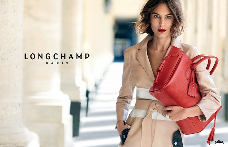 Alexa Chung Poses in Paris for Longchamp's Spring Campaign
