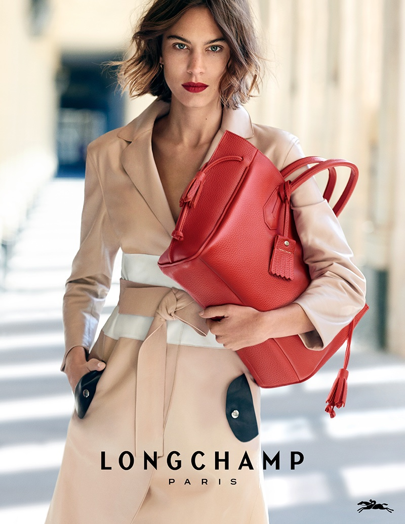 Alexa Chung stars in Longchamp's spring-summer 2016 campaign