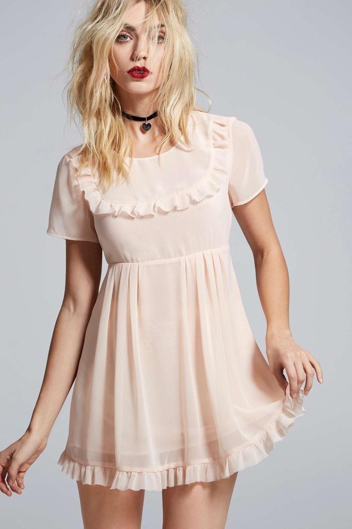 Courtney Love x Nasty Gal Sheer Babydoll Dress