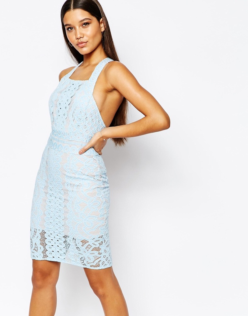 Love Triangle Blue Lace Dress