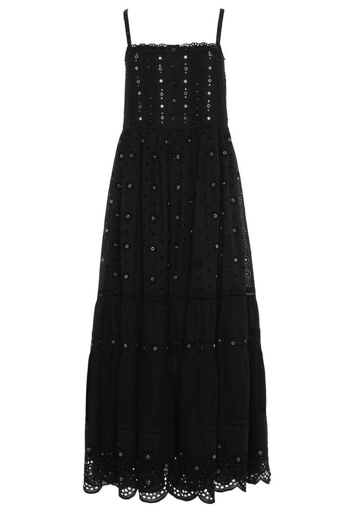 Marc Jacobs Black Long Slip Dress