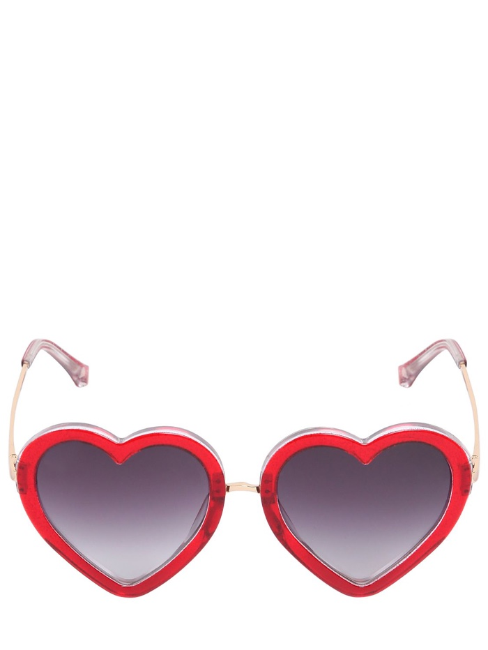 Markus Lupfer Glitter Heart Shaped Sunglasses