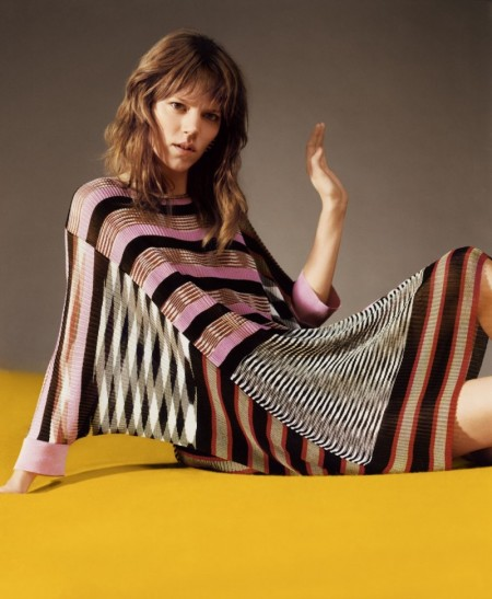 Freja Beha Erichsen Embraces Colorful Knits in Missoni's Spring Ads