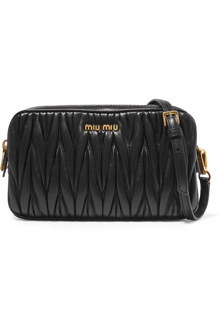 Miu Miu Small Matelassé Leather Camera Bag