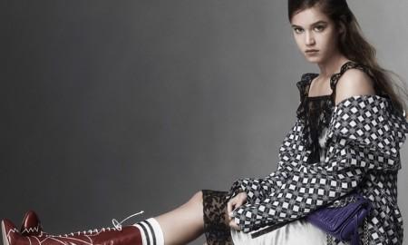 Matilda Lutz stars in Miu Miu's spring-summer 2016 campaign