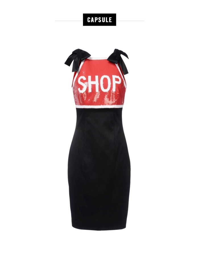 Moschino Shop Red Sequined Dress
