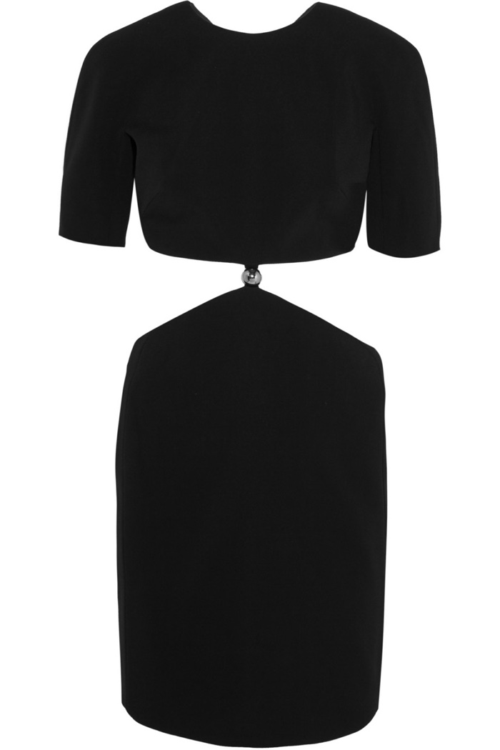 Mugler Cutout Cady Mini Dress