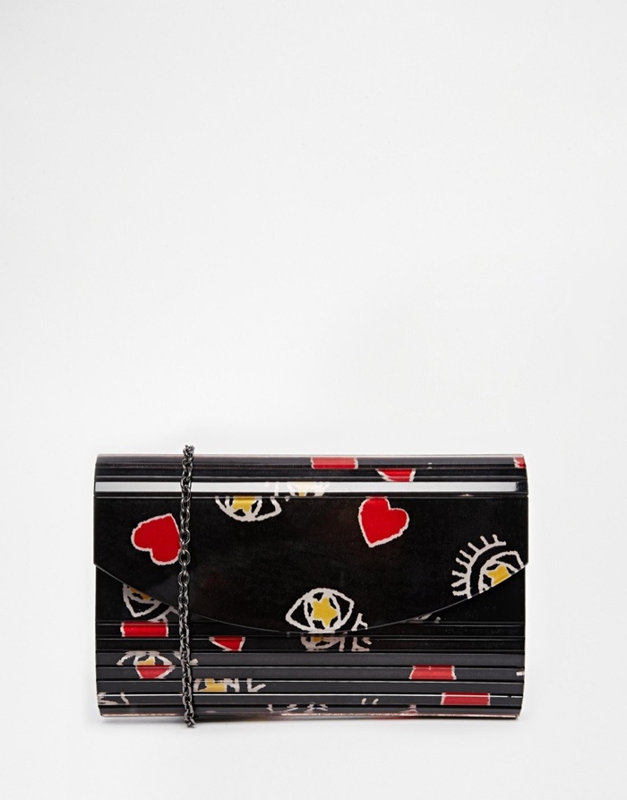 Nali Hearts & Eyes Clutch Bag