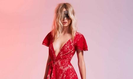 Bijoux Indiscrets Dalila Eye Mask and The Jetset Diaries Piazza Lace Maxi Dress