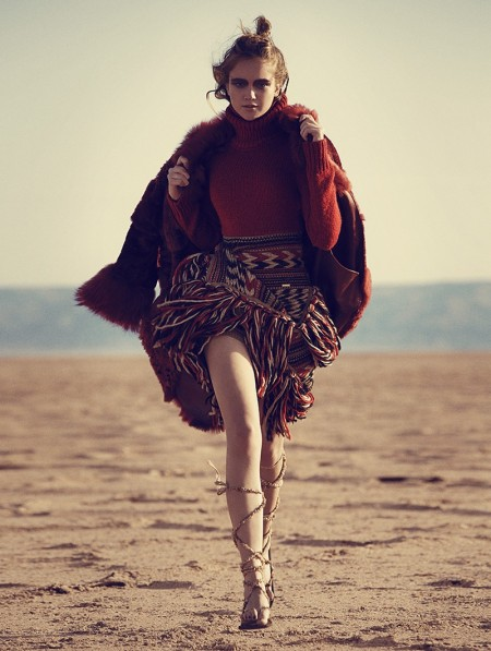 Nomadic Queen: Richard Ramos Captures Chic Furs for Woman Spain