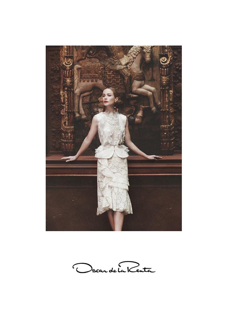 Carolyn Murphy stars in Oscar de la Renta's spring 2016 campaign
