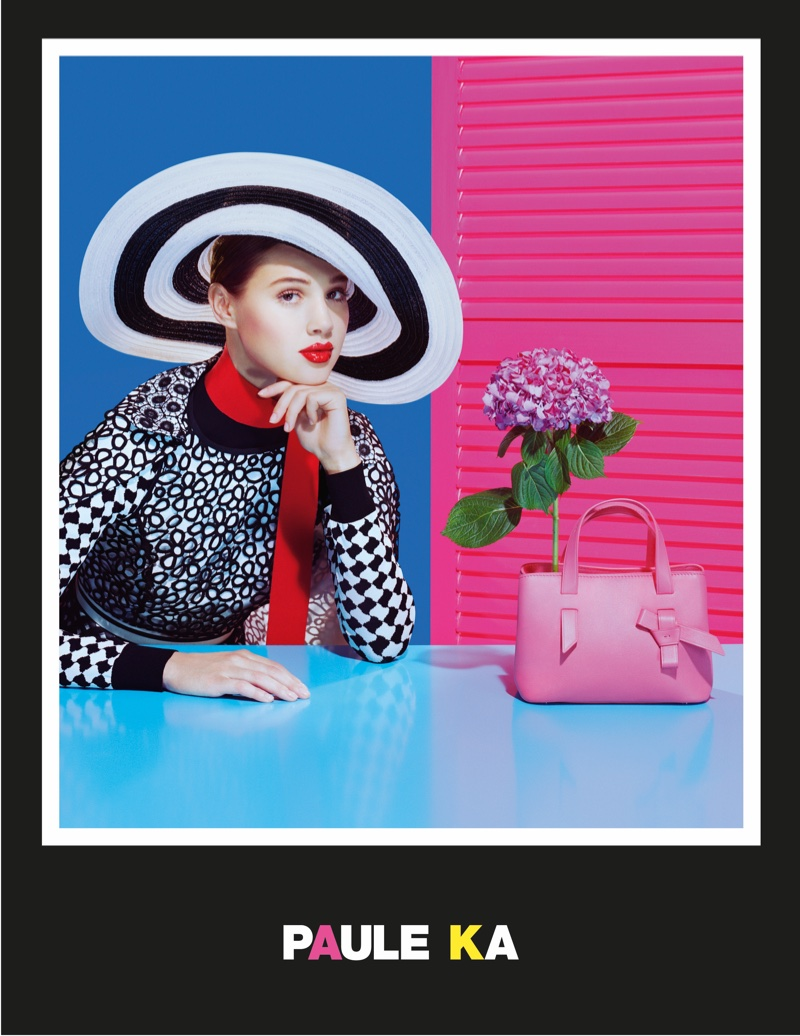 The advertisements are inspired by pop art and French Riviera style