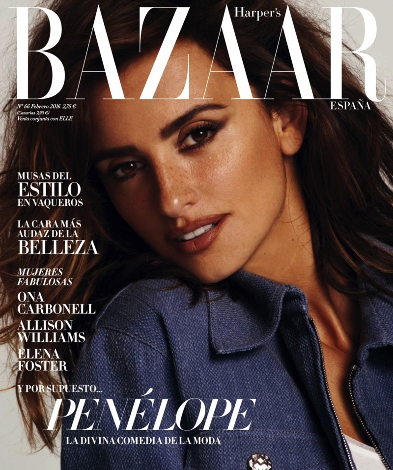 Penelope Cruz Rocks Denim Fashions in BAZAAR Spain
