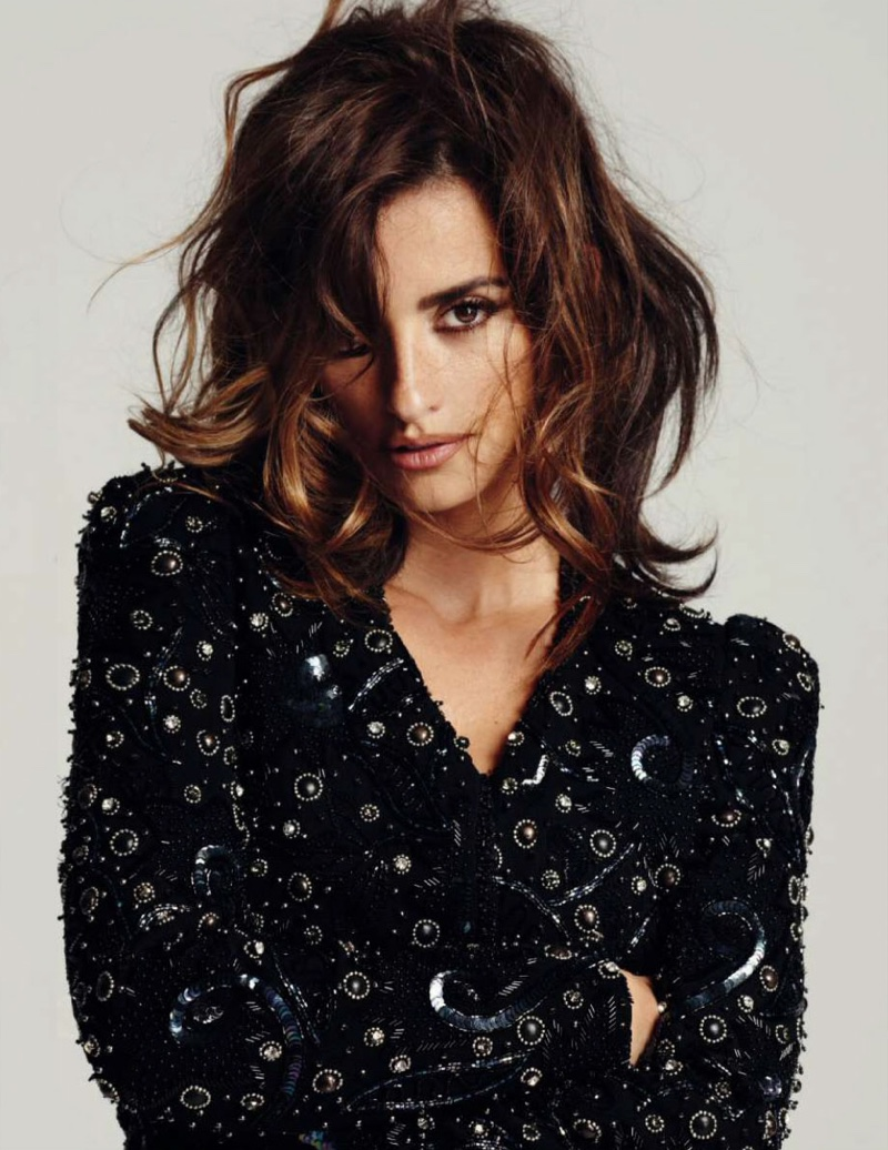 Penelope wears an embellished jacket by Isabel Marant