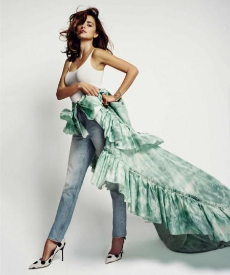 Penelope Cruz Rocks Denim Fashions in BAZAAR Spain