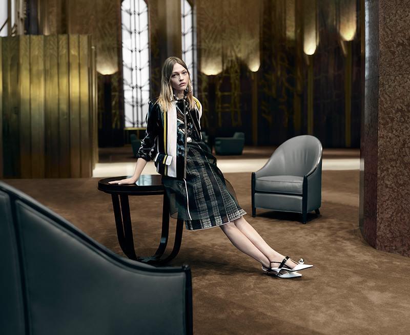 99be7b1f7534e6 Sasha Pivovarova stars in Prada spring-summer 2016 campaign