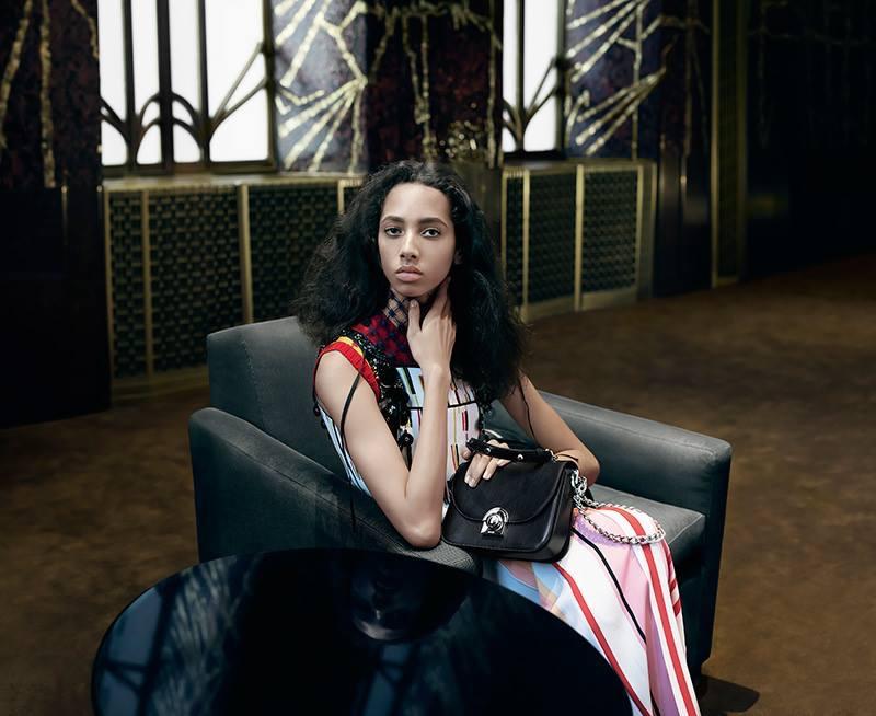 Yasmin Wijnaldum stars in Prada's spring-summer 2016 campaign