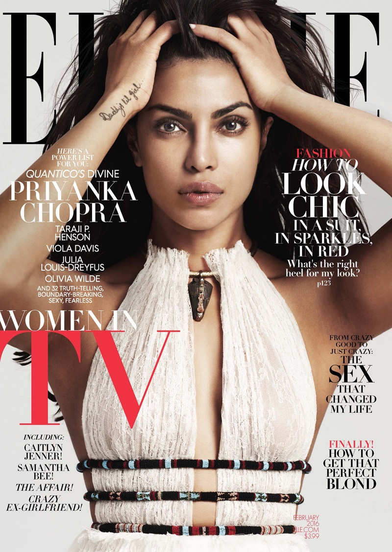 Elle Magazine France February March: Elle February 2016 Covers: Taraji P. Henson, Priyanka Chopra
