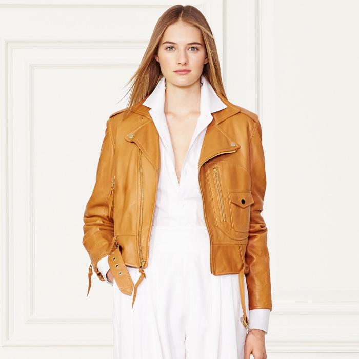 Ralph Lauren Collection Cayden Lambskin Moto Jacket