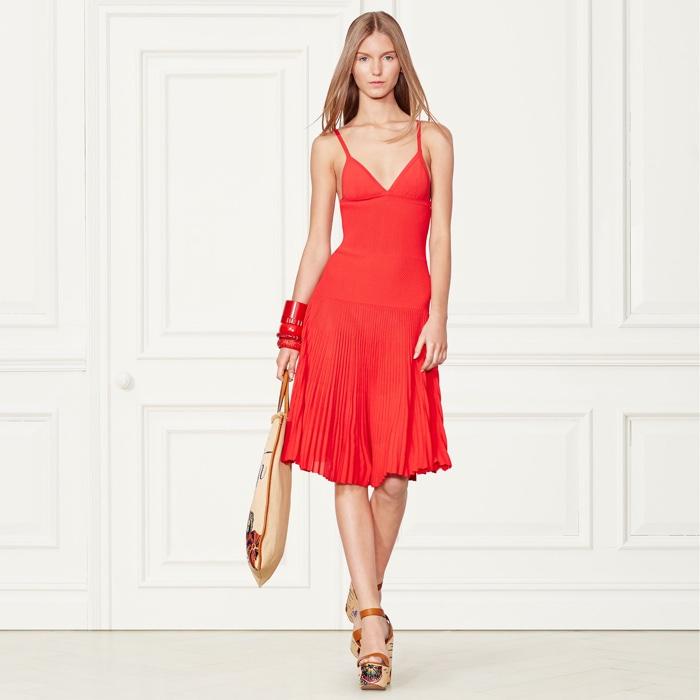 ... Ralph Lauren Collection Pleated Sleeveless Dress