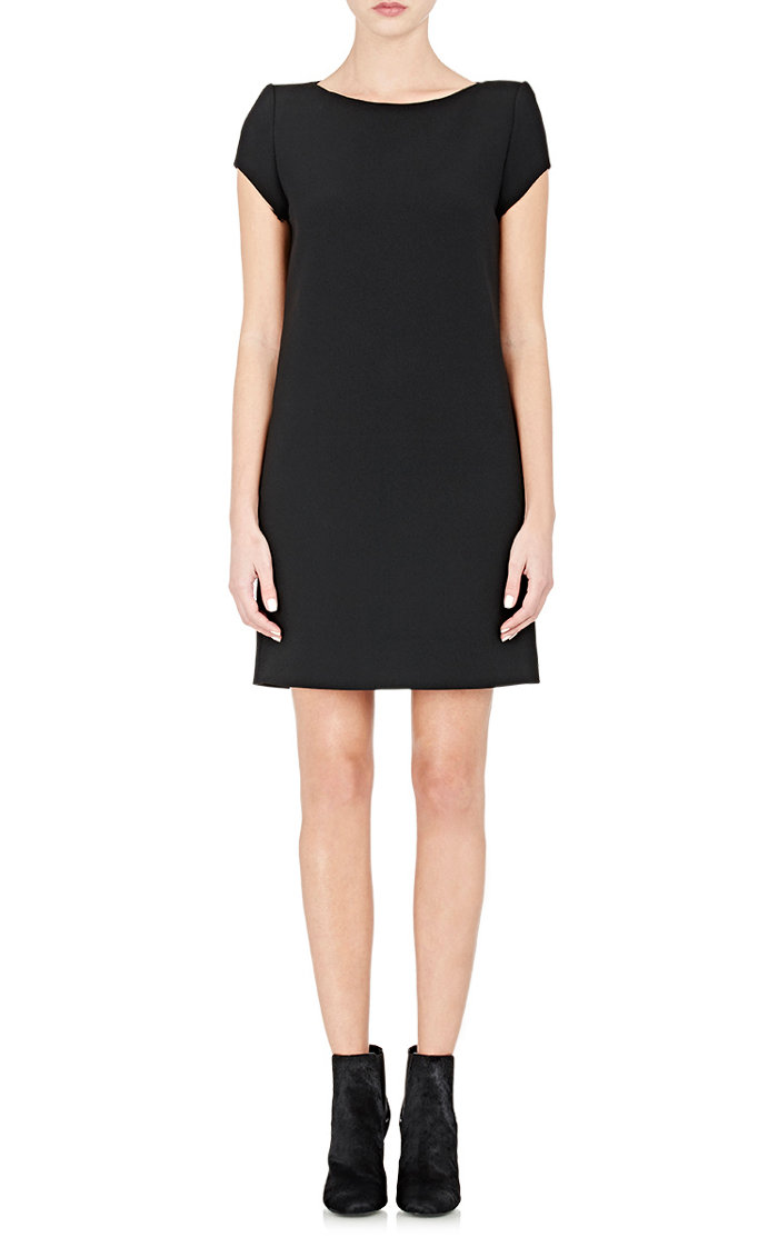 Saint Laurent Black Cady Shift Dress $1,490