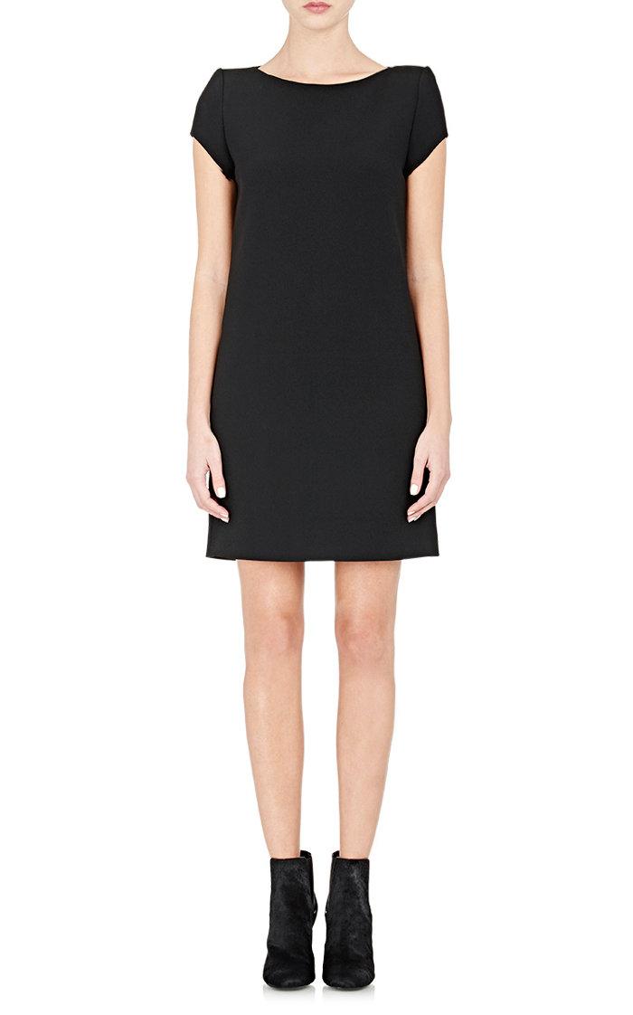 Saint Laurent Black Cady Shift Dress $1,490
