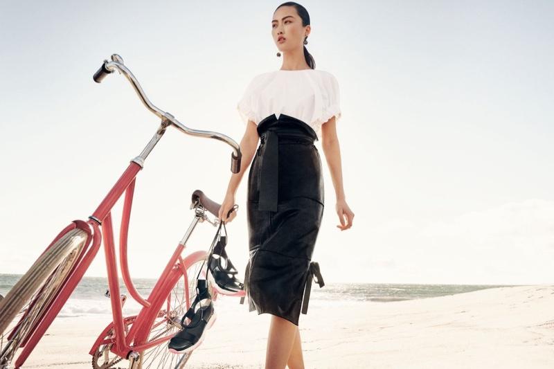 Jing Wen stars in Salvatore Ferragamo's spring-summer 2016 campaign