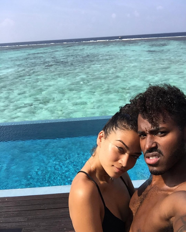 Shanina Shaik and DJ Ruckus recently got engaged. Photo: Instagram