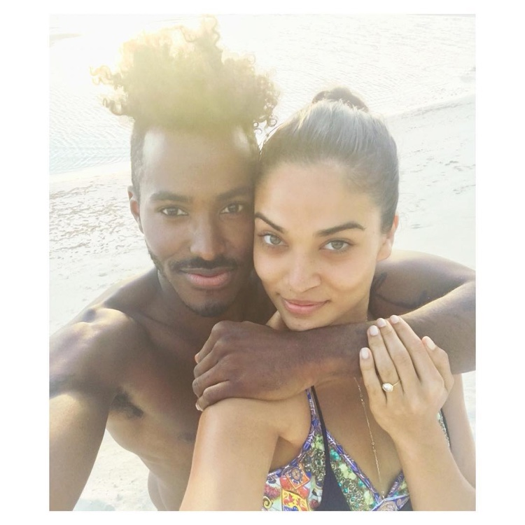 Shanina Shaik announced her engagement to DJ Ruckus on Instagram