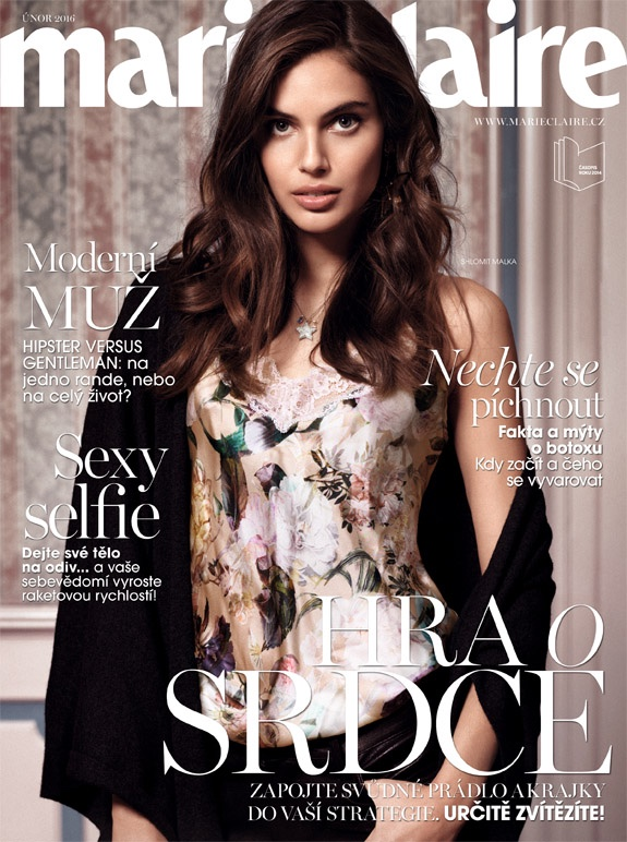 Shlomit Malka Models Lingerie Stylings in Marie Claire Czech
