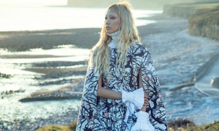 PUT A CAPE ON IT: Soo Joo covers up in a Giles cape