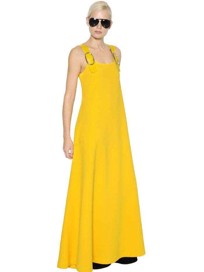 Sportmax Buckled Cady Maxi Dress