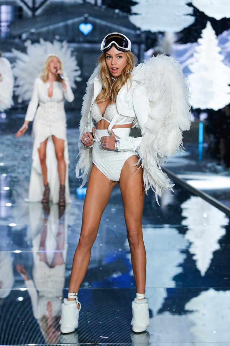 Stella Maxwell walks the runway at the 2015 Victoria's Secret Fashion Show.