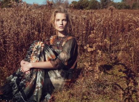 Suvi Koponen Models Romantic Dresses & Gowns in Vogue Russia