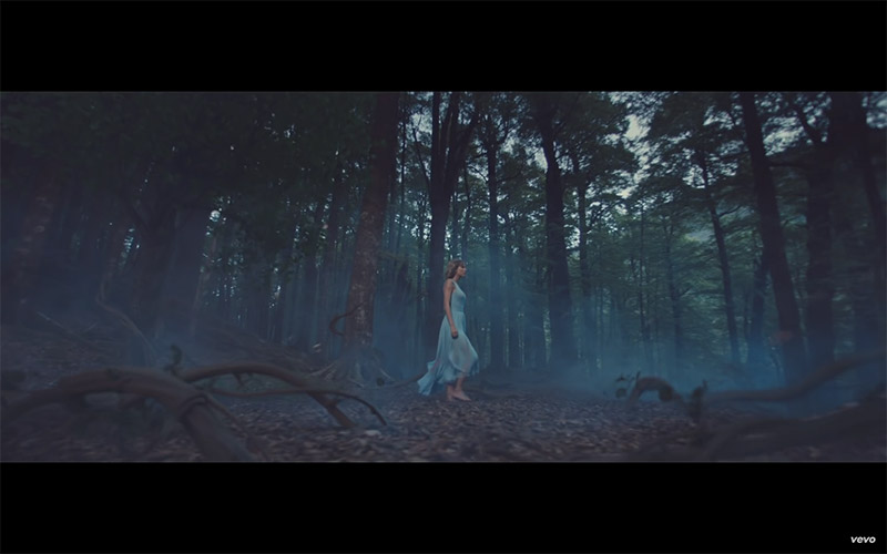 Taylor Swift Style Out Of The Woods Blue Dress Fashion