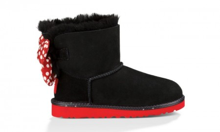Ugg x Disney Minnie Mouse Sweetie Bow Boots in Black