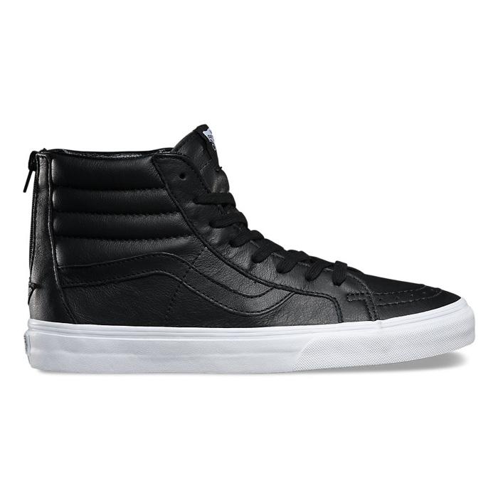 Vans Premium Leather Sk8-Hi Reissue Zip in Black