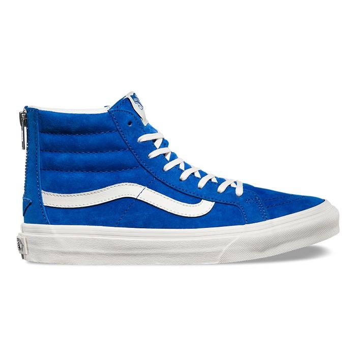Vans Scotchgard Sk8-Hi Slim Zip in Blue and White