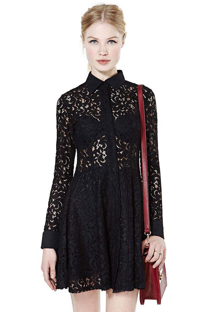 Viola Black Lace Dress