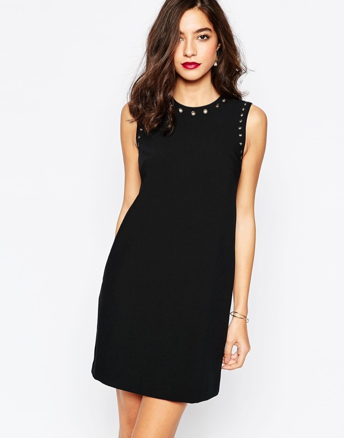 Warehouse Black Eyelet Shift Dress $106.06