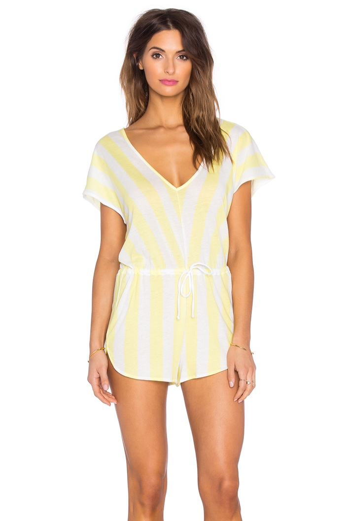 Wildfox Striped Roadtrip Romper