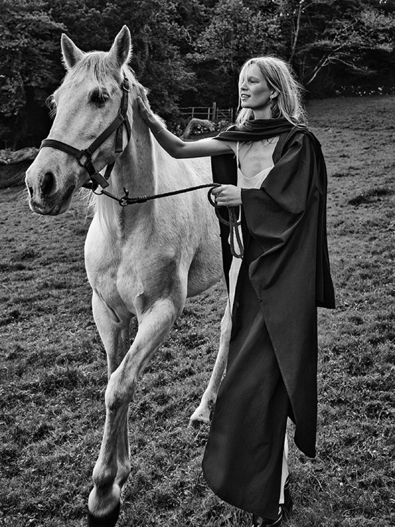 Nicola models a cape from the Spanish fashion brand Mango