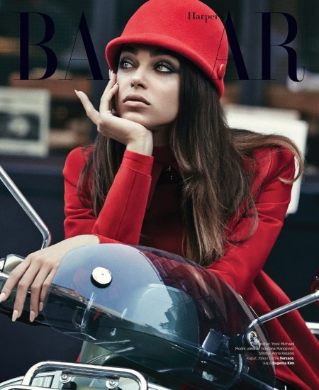 Zhenya Katava Takes on 60s Style in BAZAAR Serbia