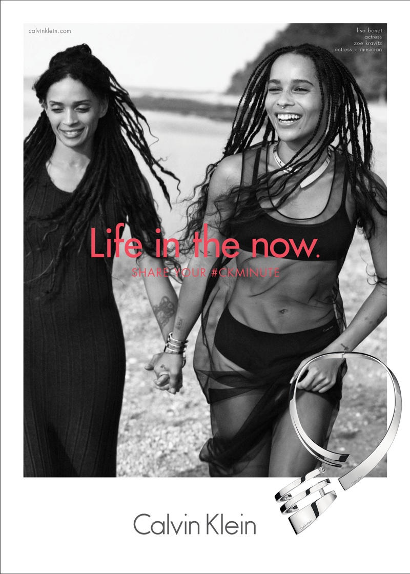 Zoe Kravitz Poses with Mother Lisa Bonet in Calvin Klein Ad