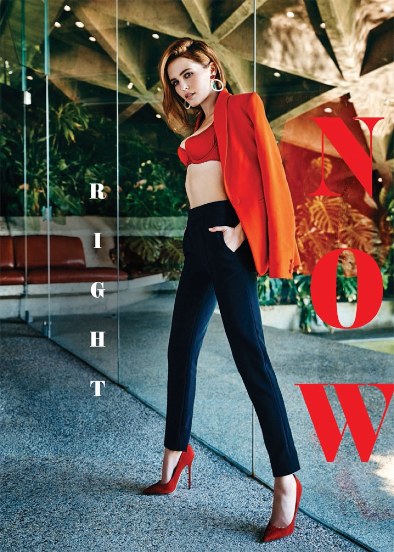 Zoey Deutch Poses In Red-Hot Looks For Cosmopolitan