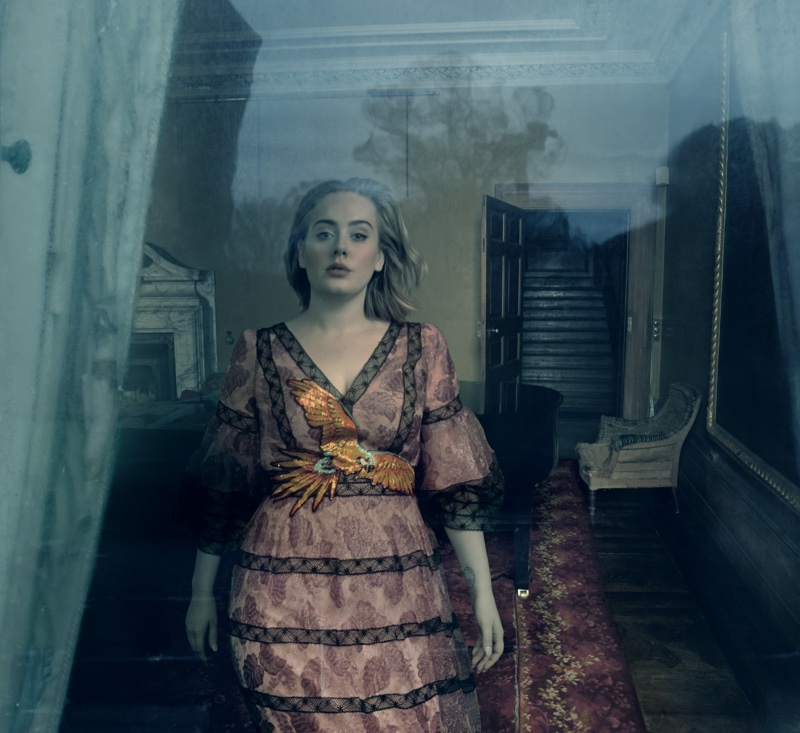 Adele wears a Gucci gown in her Vogue cover story. Photo: Annie Leibovitz