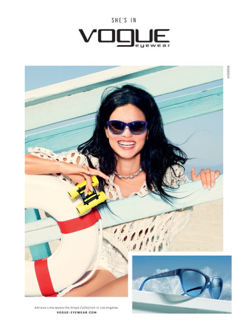 a4c47a773ec ... Adriana Lima is all smiles in Vogue Eyewear s spring 2016 campaign