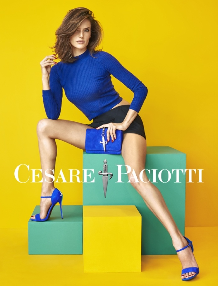 Alessandra Ambrosio Flaunts Her Heels In Cesare Paciotti`s Spring Ads
